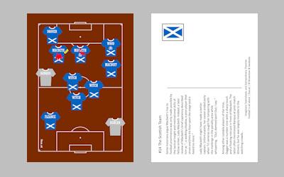 Macbeth football postcard